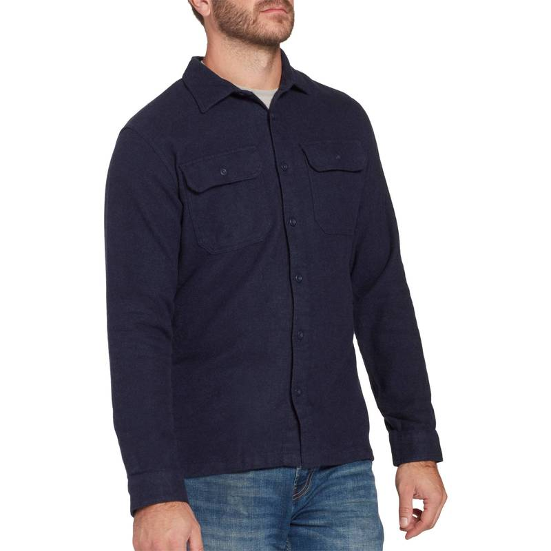 パタゴニア メンズ シャツ トップス Patagonia Men's Fjord Flannel Button Up Long Sleeve Shirt Navy Blue