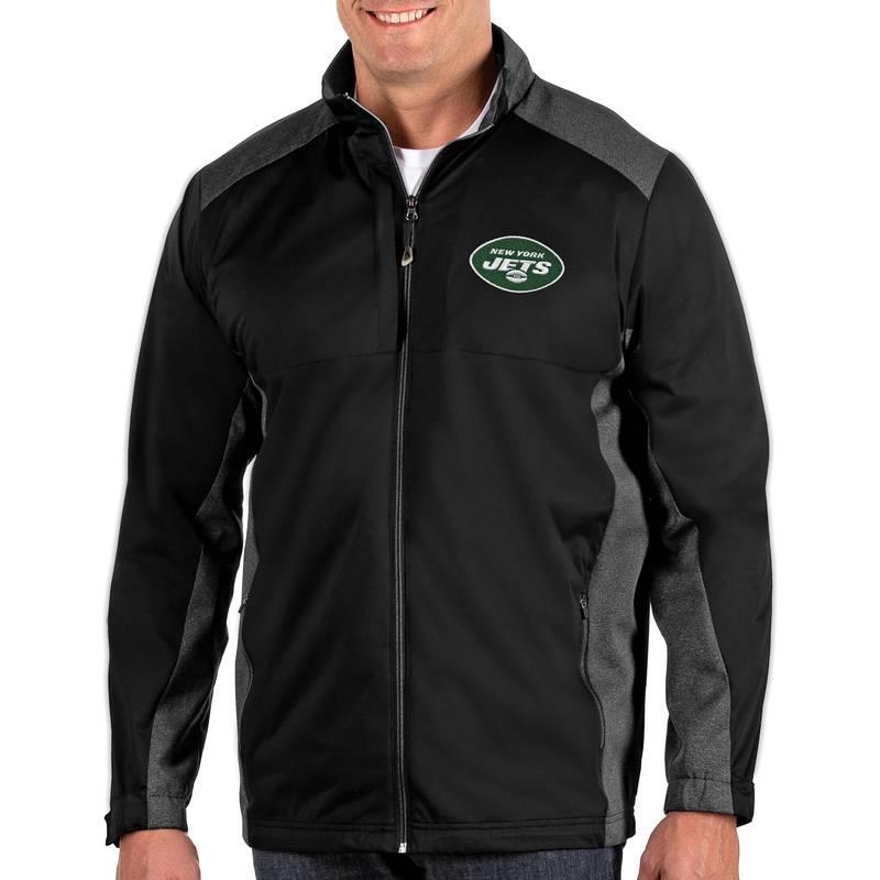 Full-Zip Jacket New Revolve アンティグア York Jets Men's Black メンズ ジャケット・ブルゾン アウター Antigua