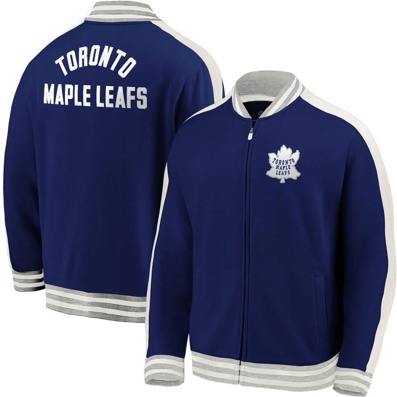 Men's Full-Zip Maple Blue Track メンズ Leafs Toronto ジャケット・ブルゾン アウター Varsity NHL ファナティクス Jacket