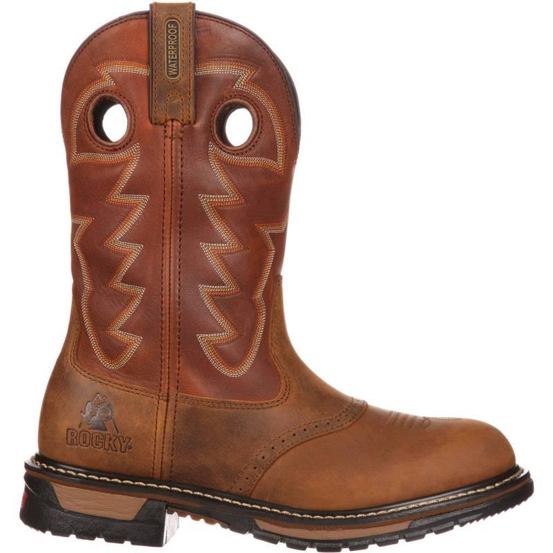 """送料無料 国内正規総代理店アイテム サイズ交換無料 ロッキー メンズ マーケティング シューズ ブーツ レインブーツ Saffron Brown Ochre Branson Men's Boots Ride Rocky Western Saddle Original Waterproof 11"""""""