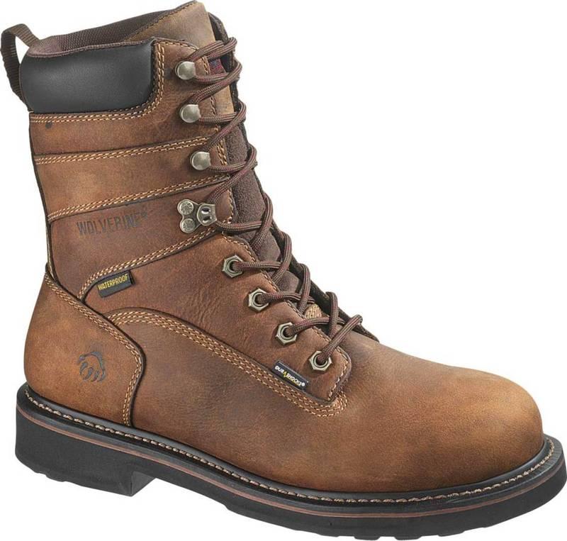 """完璧 ウルヴァリン Work Toe メンズ ブーツ・レインブーツ Steel シューズ Wolverine Men's Brek 8"""" Waterproof DuraShocks Steel Toe Work Boots Brown, セクトインターナショナル:9844f6e1 --- rishitms.com"""
