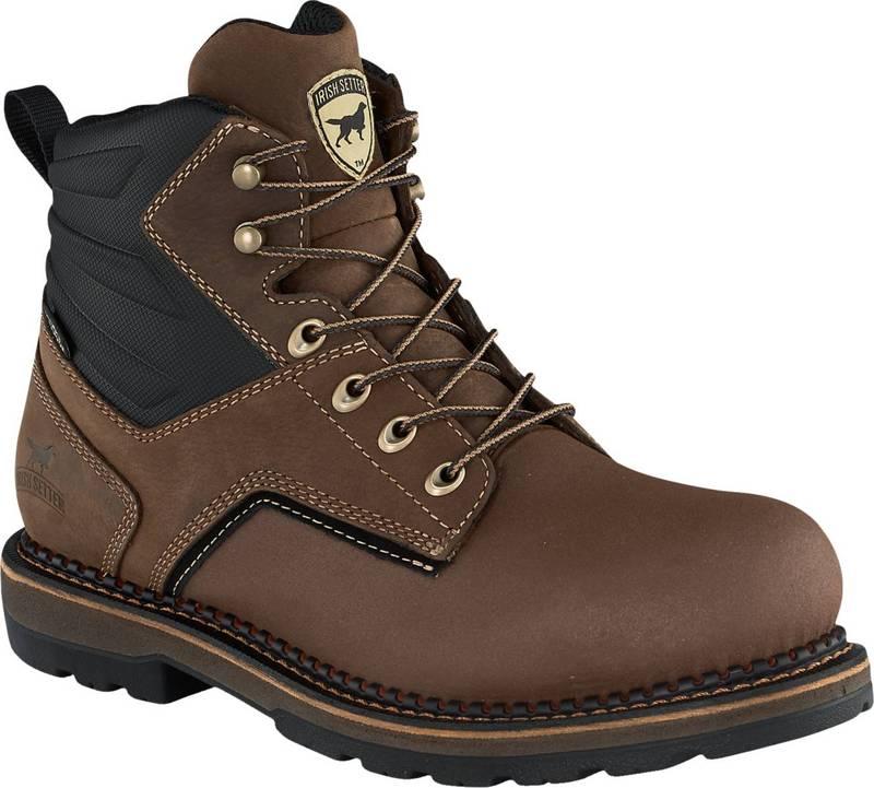 送料無料 サイズ交換無料 アイリッシュ セッター メンズ シューズ ◆高品質 ブーツ 店 レインブーツ Brown Irish Men's 2.0 Setter Work Aluminum Boots 6'' Ramsey Waterproof Toe