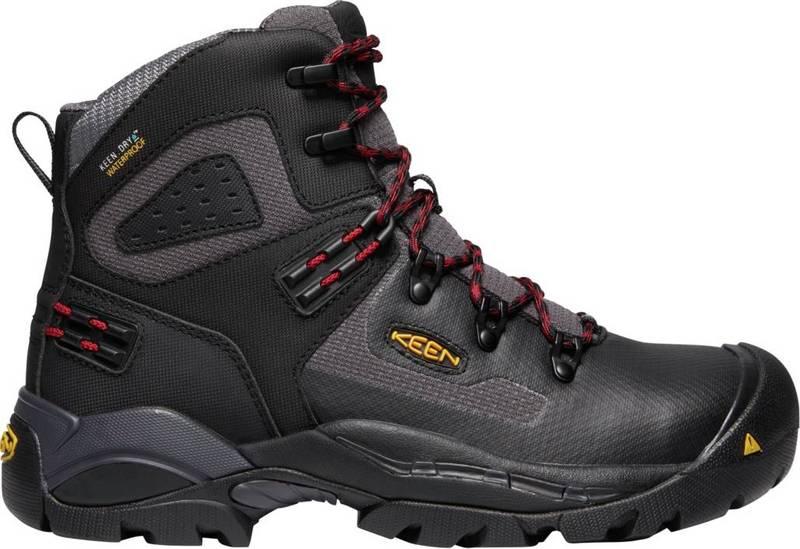 送料無料 サイズ交換無料 キーン メンズ シューズ ブーツ レインブーツ Magnet Black Men's Boots 6'' Waterproof Paul Work 定番 ☆正規品新品未使用品 KEEN St.