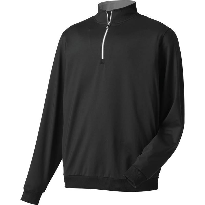 フットジョイ メンズ シャツ トップス FootJoy Men's Half-Zip Golf Pullover Black