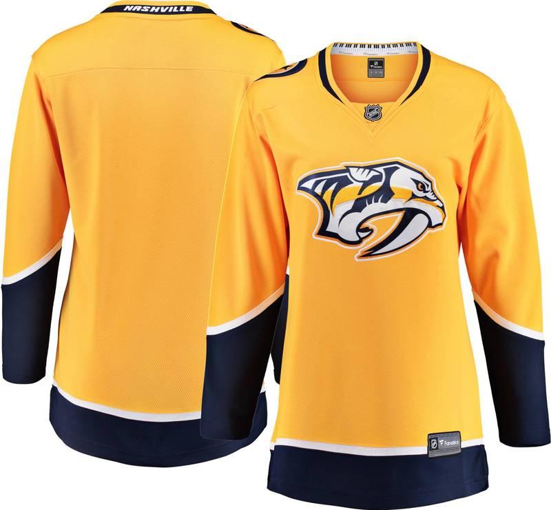 【2020春夏新色】 ファナティクス レディース Women's シャツ トップス NHL Women's レディース Nashville Predators Predators Breakaway Home Replica Jersey, E-WALL:024d7d34 --- kventurepartners.sakura.ne.jp