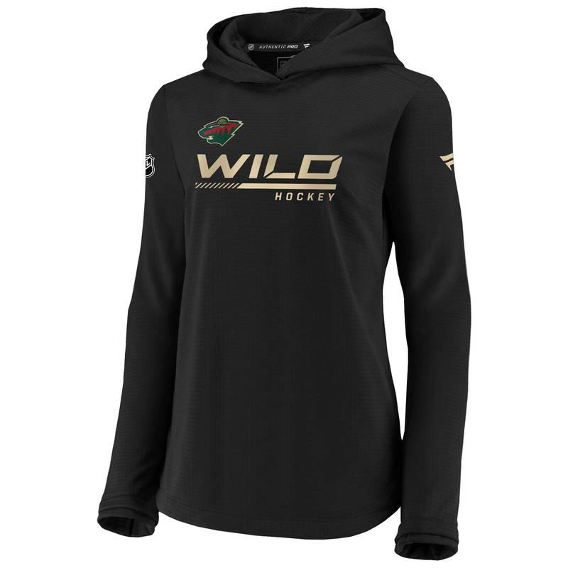送料無料 サイズ交換無料 ファナティクス 超特価SALE開催 レディース アウター パーカー スウェット NHL Wild Pullover Black 限定タイムセール Sweatshirt Women's Minnesota Travel