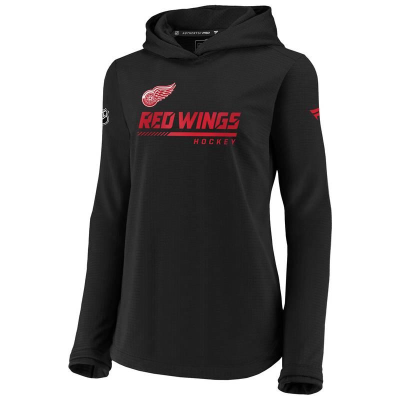 送料無料 サイズ交換無料 ファナティクス レディース アウター パーカー スウェット NHL Women's Wings Detroit Black Travel Sweatshirt バースデー 記念日 定番から日本未入荷 ギフト 贈物 お勧め 通販 Red Pullover
