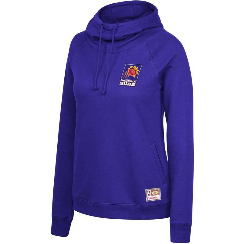 送料無料 サイズ交換無料 ミッチェルネス レディース アウター パーカー スウェット 内祝い Mitchell Ness Neck Funnel Purple Women's Phoenix Suns Pullover Hoodie オープニング 大放出セール