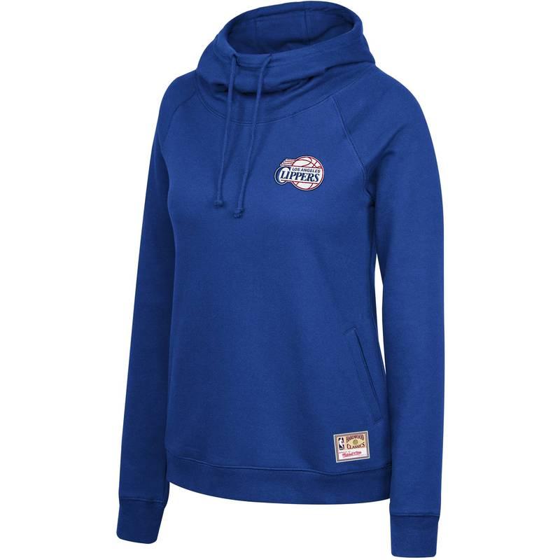 送料無料 サイズ交換無料 ミッチェルネス レディース アウター パーカー 販売実績No.1 スウェット Mitchell Ness Blue 高品質新品 Funnel Angeles Pullover Neck Los Hoodie Clippers Women's