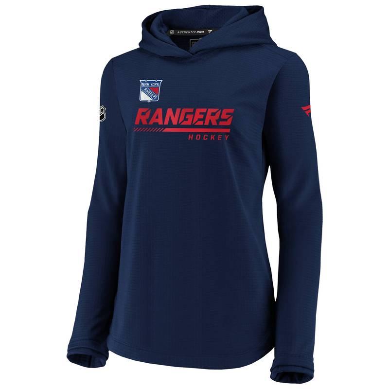 送料無料 サイズ交換無料 ファナティクス 代引き不可 レディース アウター パーカー スウェット NHL Navy New Travel Women's York Rangers 全品最安値に挑戦 Pullover Sweatshirt