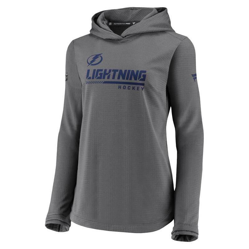 送料無料 サイズ交換無料 ファナティクス 好評 レディース アウター パーカー スウェット NHL マート Sweatshirt Bay Women's Tampa Travel Lightning Gray Pullover