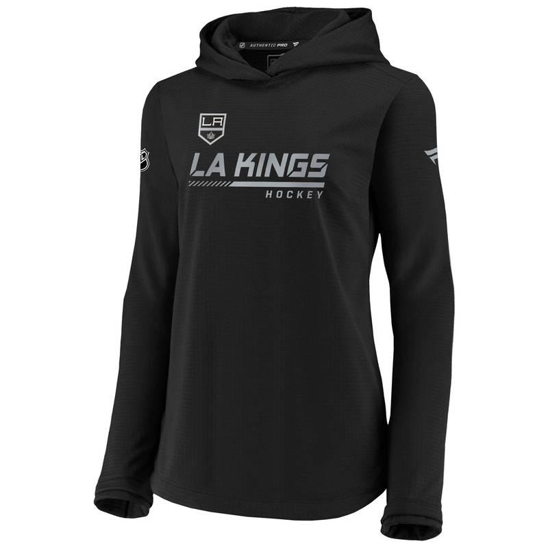 送料無料 サイズ交換無料 ファナティクス レディース アウター パーカー スウェット NHL Black Angeles Pullover Los Women's Kings 高品質 Sweatshirt Travel 最安値
