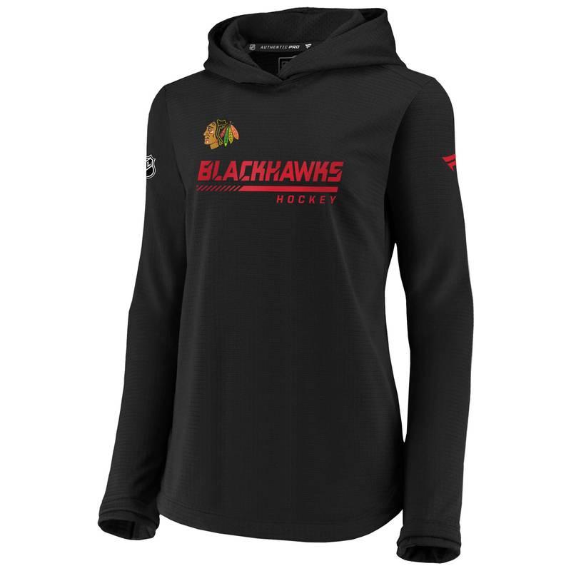 送料無料 サイズ交換無料 ファナティクス レディース アウター パーカー 特価品コーナー☆ スウェット NHL Black Women's 税込 Chicago Blackhawks Travel Pullover Sweatshirt