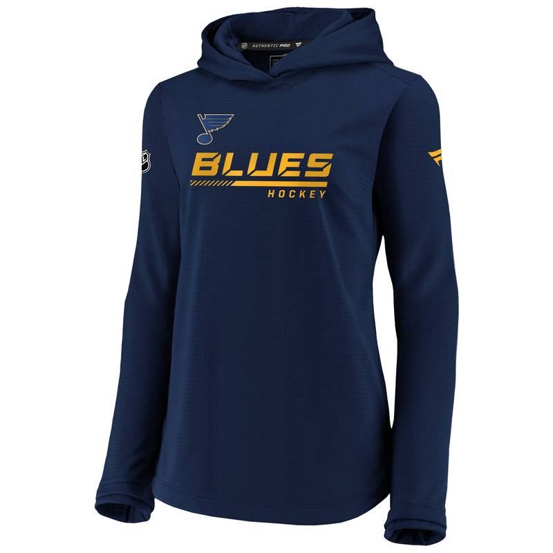 送料無料 サイズ交換無料 ファナティクス レディース アウター パーカー スウェット NHL Navy 信託 St. Pullover 通販 激安◆ Sweatshirt Women's Louis Blues Travel