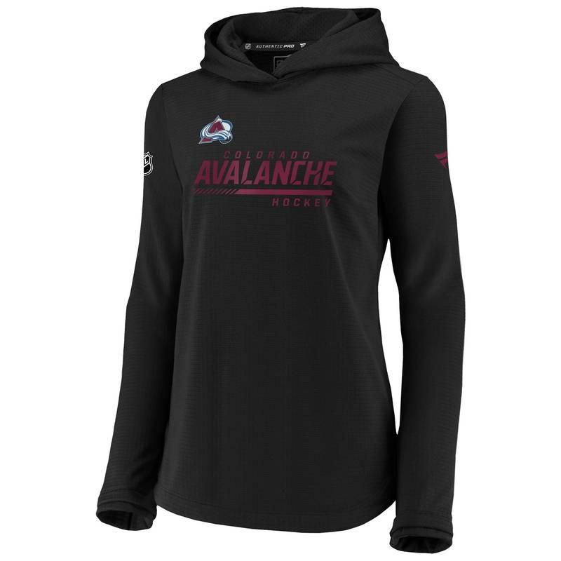 送料無料 サイズ交換無料 ファナティクス レディース アウター パーカー スウェット NHL Avalanche 商品追加値下げ在庫復活 Colorado Women's Sweatshirt Travel Pullover 返品不可 Black