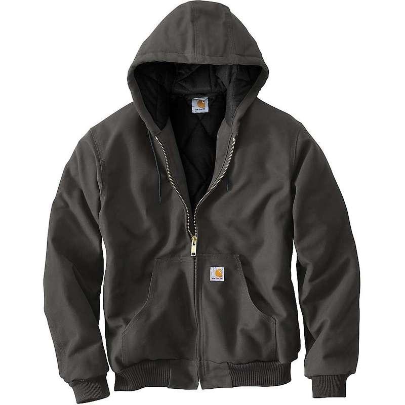 カーハート メンズ ジャケット・ブルゾン アウター Carhartt Men's Quilted Flannel Lined Duck Active Jacket Gravel