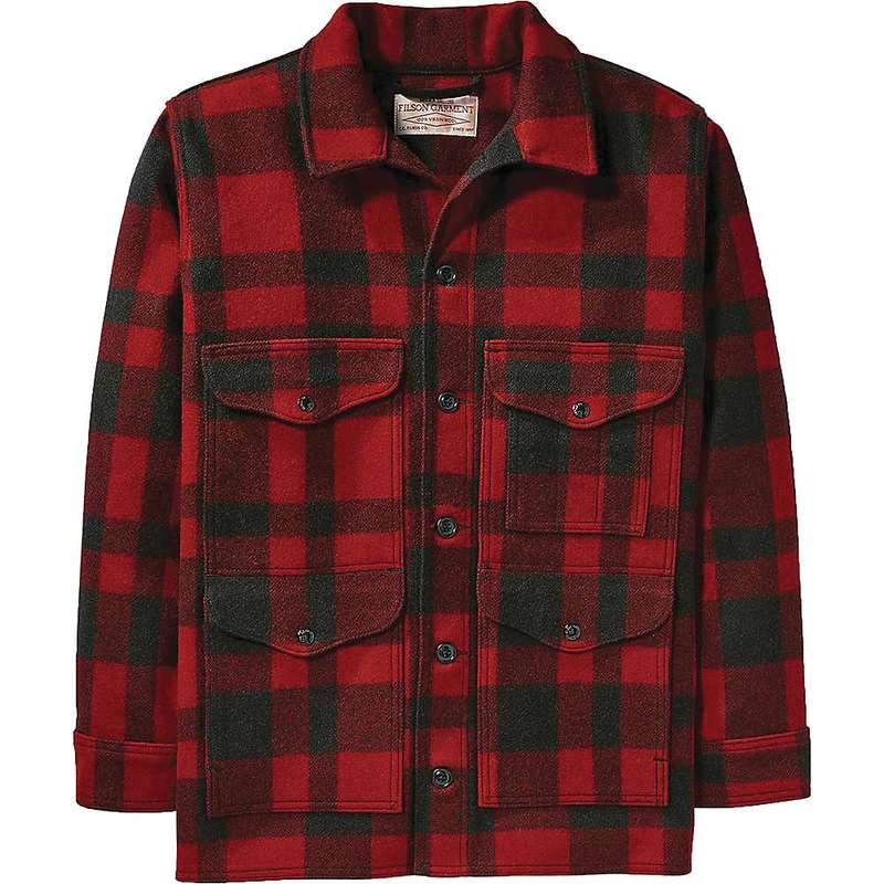 フィルソン メンズ ジャケット・ブルゾン アウター Filson Men's Mackinaw Cruiser Jacket Red / Black Plaid