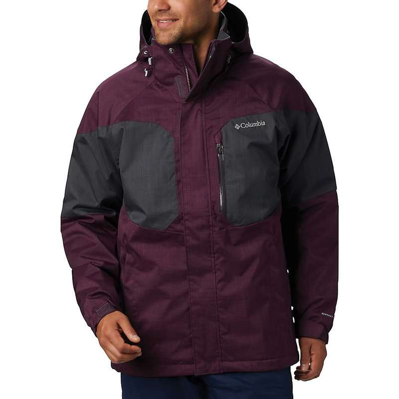 コロンビア メンズ ジャケット・ブルゾン アウター Columbia Men's Alpine Action Jacket Black Cherry