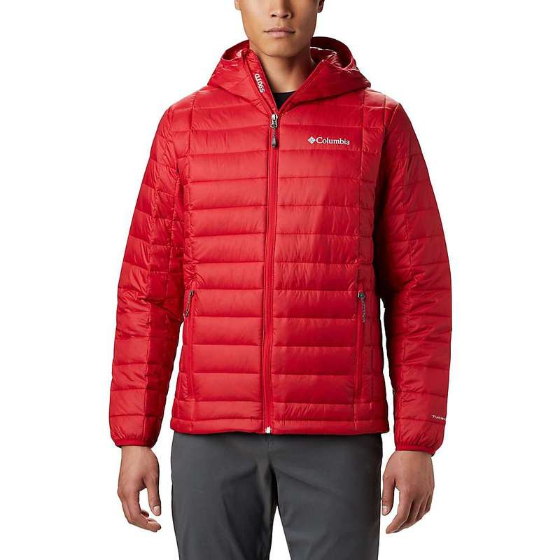 コロンビア メンズ ジャケット・ブルゾン アウター Columbia Men's Voodoo Falls 590 TurboDown Hooded Jacket Mountain Red