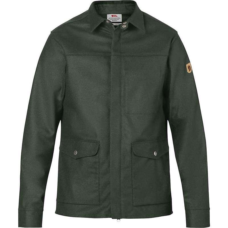 フェールラーベン メンズ ジャケット・ブルゾン アウター Fjallraven Men's Greenland Re-Wool Shirt Jacket Deep Forest