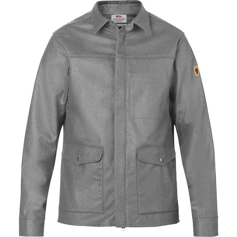 フェールラーベン メンズ ジャケット・ブルゾン アウター Fjallraven Men's Greenland Re-Wool Shirt Jacket Grey