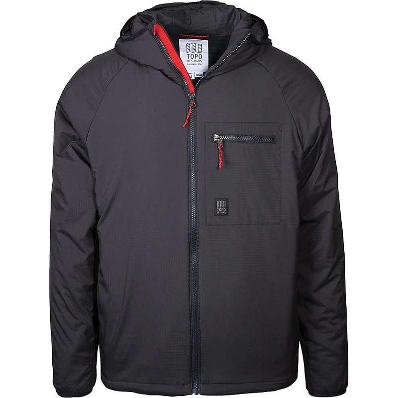 トポ・デザイン メンズ ジャケット・ブルゾン アウター Topo Designs Men's Puffer Hoodie Jacket Black
