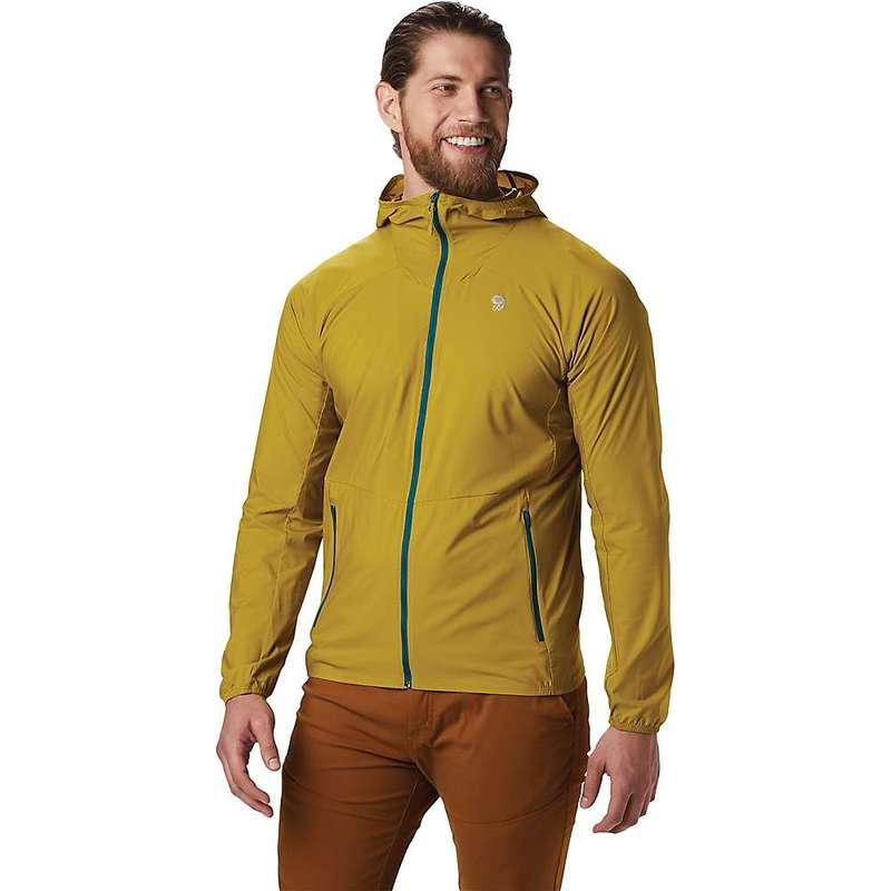 マウンテンハードウェア メンズ ジャケット・ブルゾン アウター Mountain Hardwear Men's Kor Preshell Hoody Dark Citron