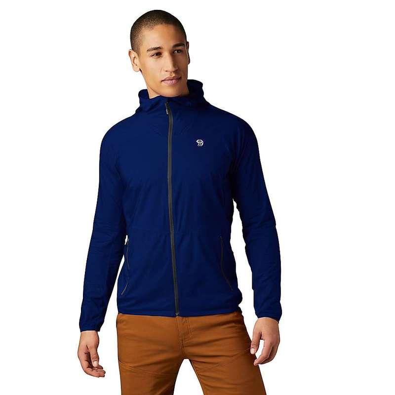 マウンテンハードウェア メンズ ジャケット・ブルゾン アウター Mountain Hardwear Men's Kor Preshell Hoody Nightfall Blue