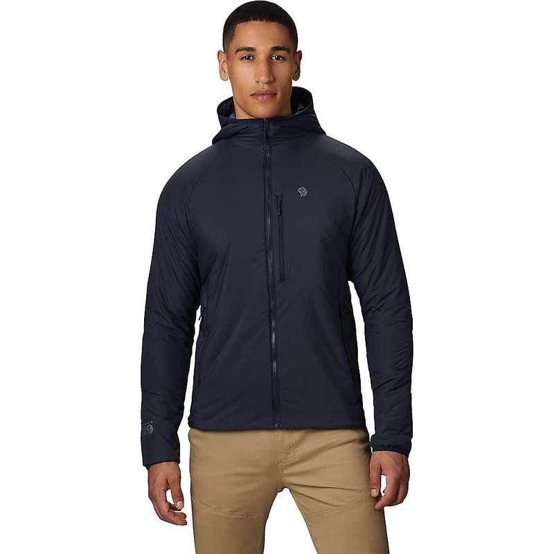マウンテンハードウェア メンズ ジャケット・ブルゾン アウター Mountain Hardwear Men's Kor Strata Hooded Jacket Dark Zinc