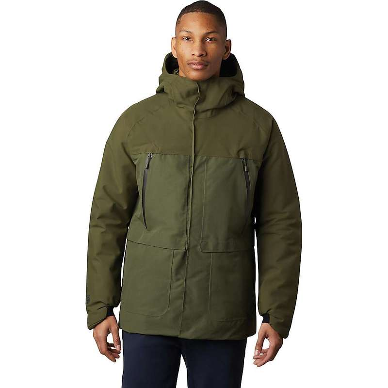 マウンテンハードウェア メンズ ジャケット・ブルゾン アウター Mountain Hardwear Men's Summit Shadow GTX Insulated Jacket Dark Army
