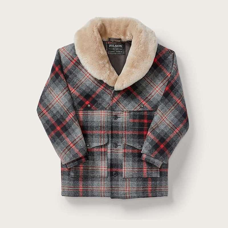 フィルソン メンズ ジャケット・ブルゾン アウター Filson Men's Lined Wool Packer Coat Red / Grey Multi Plaid