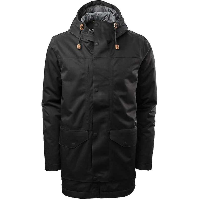 カトマンズ メンズ ジャケット・ブルゾン アウター Kathmandu Men's Stockton Rain Coat Black