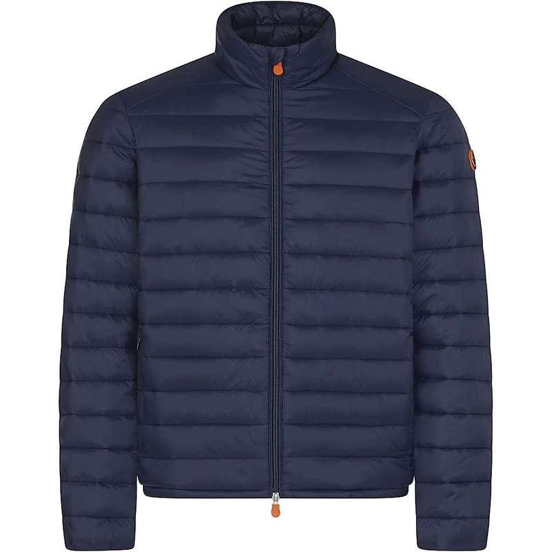 セイブ ザ ダック メンズ ジャケット・ブルゾン アウター Save The Duck Men's Faux Shearling Insulated Jacket Navy Blue
