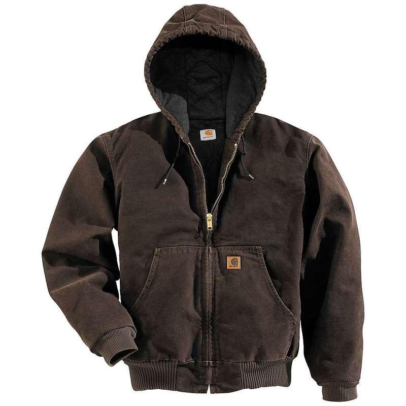 カーハート メンズ ジャケット・ブルゾン アウター Carhartt Men's Quilted Flannel Lined Sandstone Active Jacket Dark Brown