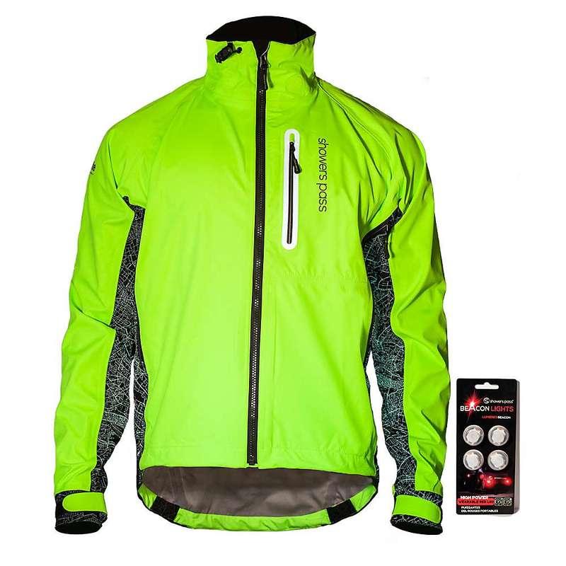 シャワーパス メンズ ジャケット・ブルゾン アウター Showers Pass Men's Hi-Vis Elite Jacket Neon Green and Black
