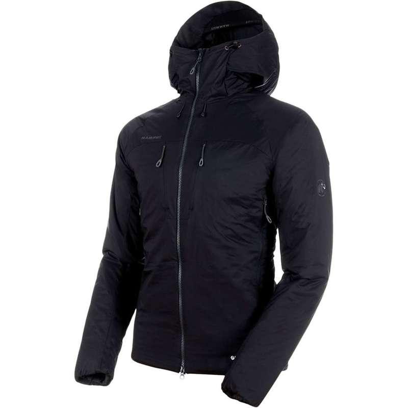マムート メンズ ジャケット・ブルゾン アウター Mammut Men's Rime IN Flex Hooded Jacket Black / Phantom