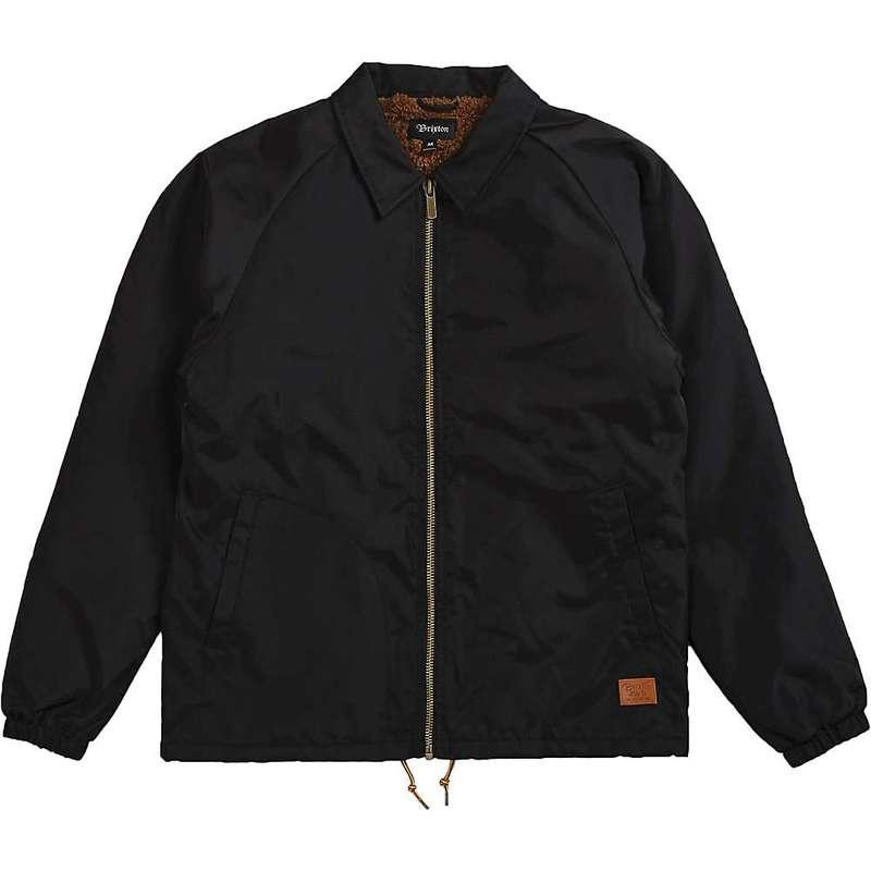 ブリクストン メンズ ジャケット・ブルゾン アウター Brixton Men's Claxton Collar Sherpa Jacket Black