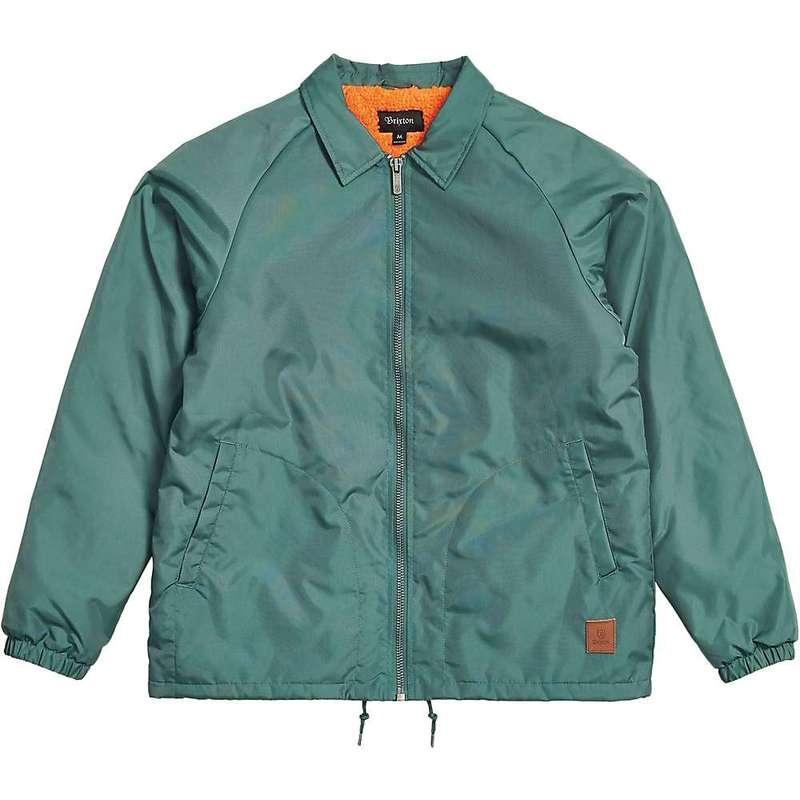 ブリクストン メンズ ジャケット・ブルゾン アウター Brixton Men's Claxton Collar Sherpa Jacket Emerald