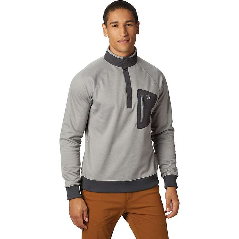 マウンテンハードウェア メンズ ジャケット・ブルゾン アウター Mountain Hardwear Men's Norse Peak Half Zip Pullover Manta Grey