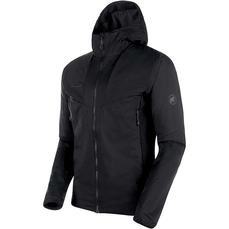 マムート メンズ ジャケット・ブルゾン アウター Mammut Men's Rime Light Insulation Flex Hooded Jacket Black