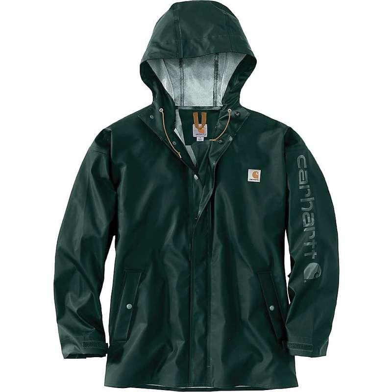 カーハート メンズ ジャケット・ブルゾン アウター Carhartt Men's Lightweight Waterproof Rainstorm Jacket Canopy Green