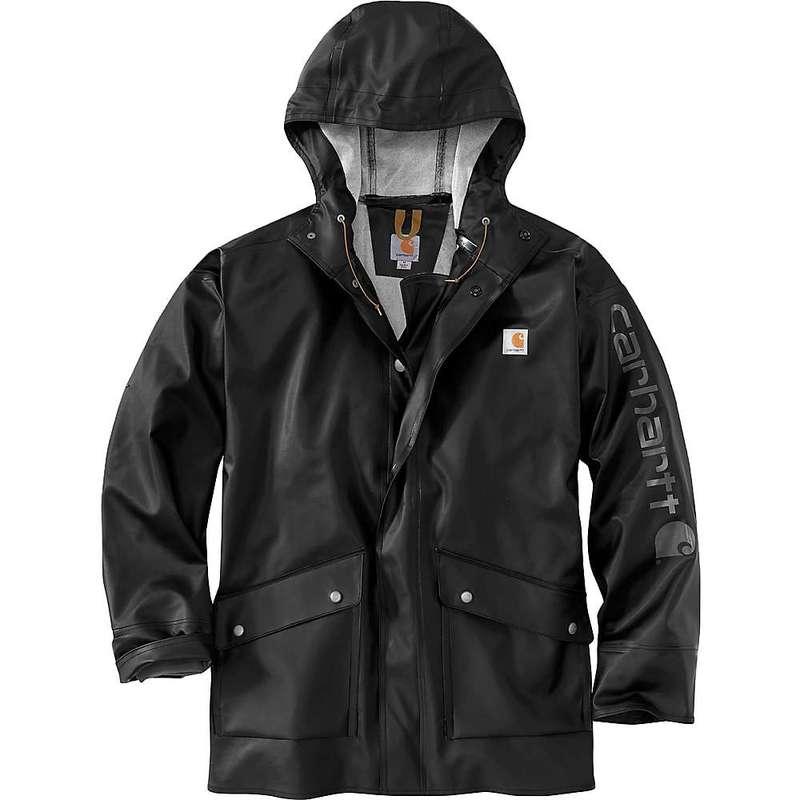 カーハート メンズ ジャケット・ブルゾン アウター Carhartt Men's Midweight Waterproof Rain Storm Coat Black