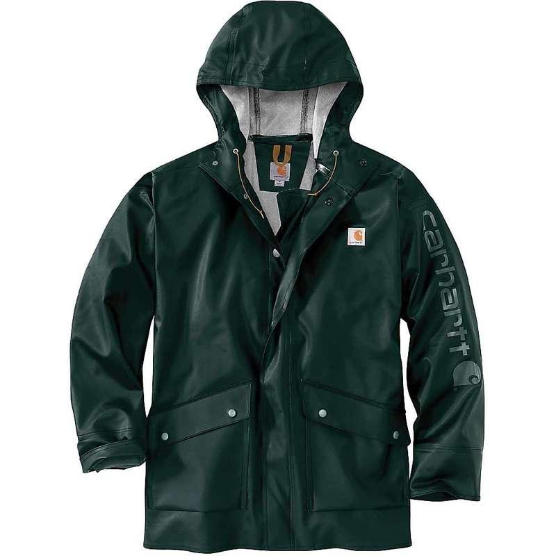 カーハート メンズ ジャケット・ブルゾン アウター Carhartt Men's Midweight Waterproof Rain Storm Coat Canopy Green