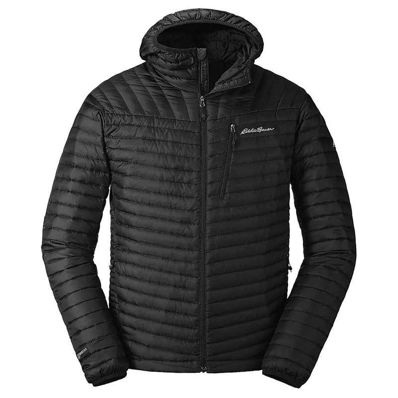 エディー バウアー メンズ ジャケット・ブルゾン アウター Eddie Bauer First Ascent Men's Microtherm 2.0 Stormdown Hooded Jacket Black