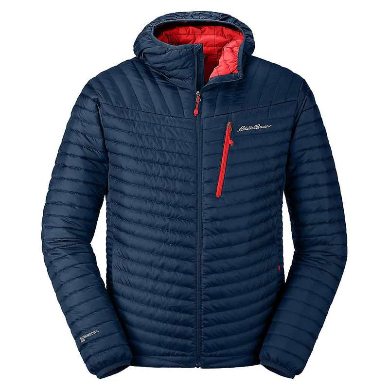 エディー バウアー メンズ ジャケット・ブルゾン アウター Eddie Bauer First Ascent Men's Microtherm 2.0 Stormdown Hooded Jacket Medium Indigo
