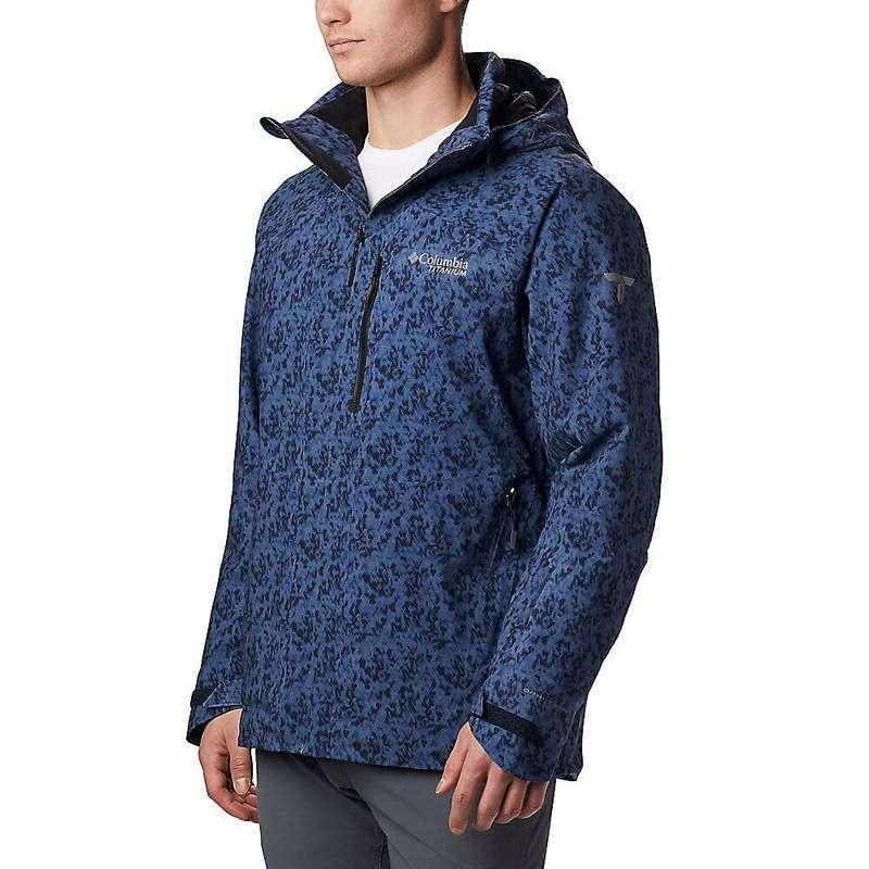 コロンビア メンズ ジャケット・ブルゾン アウター Columbia Men's Snow Rival Titanium Jacket Collegiate Navy Print