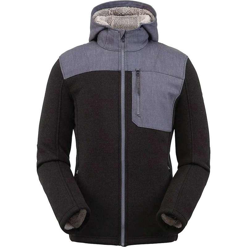 スパイダー メンズ ジャケット・ブルゾン アウター Spyder Men's Alps Full Zip Hoodie Fleece Jacket Black