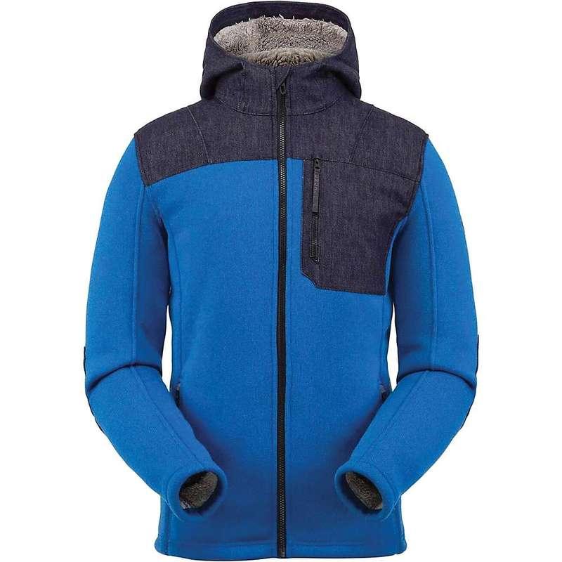 スパイダー メンズ ジャケット・ブルゾン アウター Spyder Men's Alps Full Zip Hoodie Fleece Jacket Old Glory