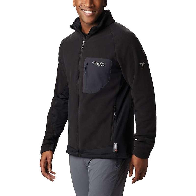 コロンビア メンズ ジャケット・ブルゾン アウター Columbia Men's Titanium Titan Pass 2.0 II Fleece Jacket Black