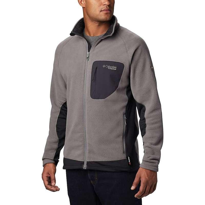 コロンビア メンズ ジャケット・ブルゾン アウター Columbia Men's Titanium Titan Pass 2.0 II Fleece Jacket City Grey/Black